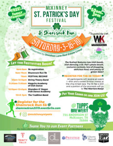 McKinney St. Patrick's Day Festival - 3/16/19 Benefiting CGK!