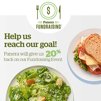 Dine with us at Panera Bread Saturday, August 3