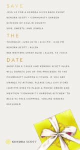 Shop for a Cause at Kendra Scott! June 20 6-8 PM at Watters Creek