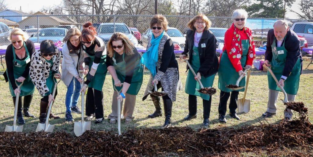 Community Garden Kitchen Board breaks ground
