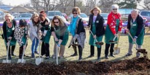 Community Garden Kitchen Board breaks ground