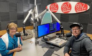 Angela being interviewed by Way FM Radio
